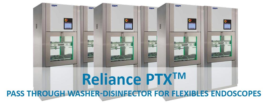 Pass through washer-disinfector for flexibles endoscopes